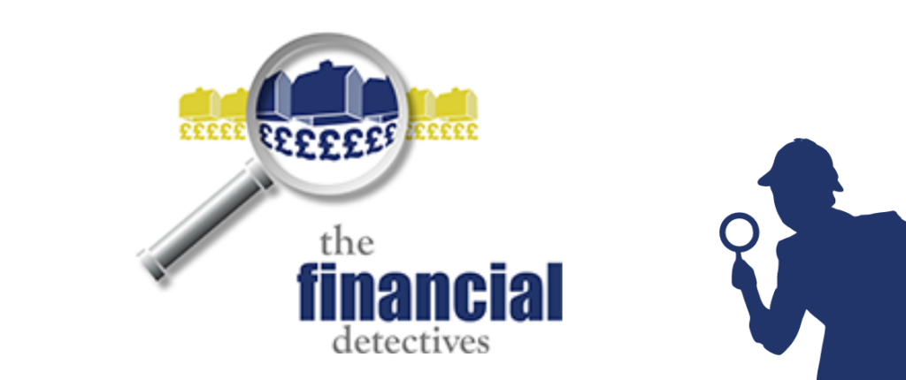 The Financial Detectives logo next to the detective